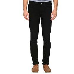 IZOD Mens Slim Fit Coated Jeans_Black_36