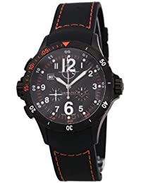 Hamilton Khaki Aviation Air Chrono H74592333 - Reloj de caballero de cuarzo, correa de caucho color negro