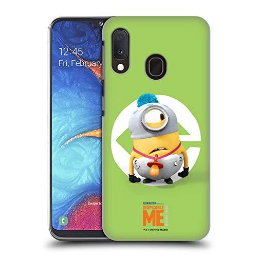Head Case Designs Offizielle Despicable Me Stuart Baby Kostuem Minions Harte Rueckseiten Huelle kompatibel mit Samsung Galaxy A20e (2019)
