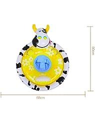 Bebé sentado anillo bebé recién nacido nadar círculo niño bebé bajo el círculo de la axila grueso animal verde flotante anillo 0-3 años de edad , little donkey cartoon baby seat