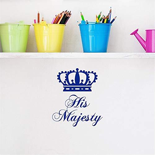 stickers muraux bebe papillon Sa Majesté le roi couronne pour la chambre des garçons