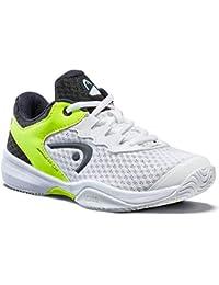 Head Sprint 3.0 Junior Zapatillas de Tenis, Juventud Unisex, Blanco/Neon Amarillo, 40 EU