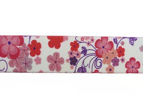 Ceinture élastiquée avec Velcro Boucle pour les enfants 1-6 ans, Motif Imprimé Fleur Rose