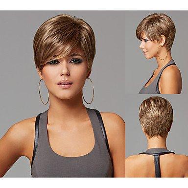 OOFAY JF-Pixie Cut Frisuren kurze gerade synthetische Perücken für Frauen , brown (Pixie Cut Perücken)