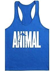 waylongplus pour homme Imprimé Animal Lettre Fitness Gym Stringer pour Tops pour musculation Entraînement Musculaire