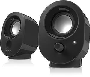 Speedlink Snappy Haut-parleur Actif pour PC (Puissance en Sortie RMS 4W, Réglage Progressif du Volume, USB) Noir
