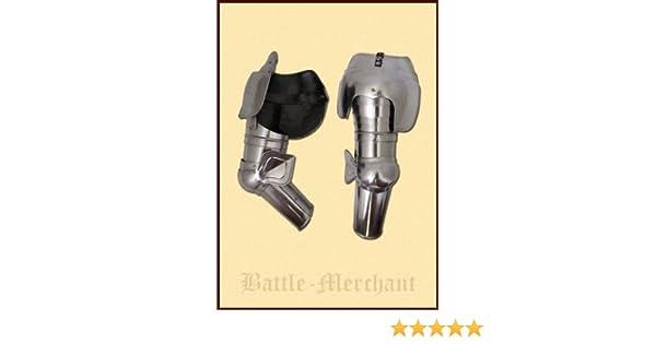 Armsch/ützer PAAR Armschoner Mittelalter Ritterr/üstung Battle-Merchant Armzeug aus Stahl