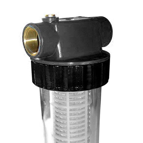"""Grafner® Vorfilter lang mit Einsatz für Hauswasserwerke und Gartenpumpen 1"""" Sandfilter Schmutzfilter Wasserfilter Pumpenfilter Filter"""