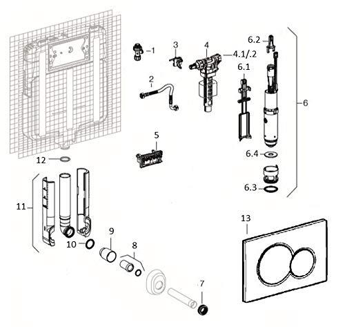 Geberit – Latiguillo Flexible Para Cisternas Empotradas Geberit Sigma 8 Cm (242.415.00.1)