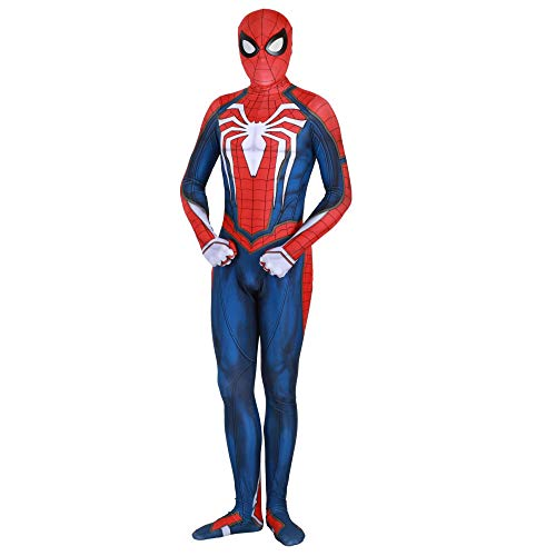 Spiderman Skinny One Piece PS4 Spiel Halloween Kostüm Ball Cosplay Erwachsene Kinder Performance Kleidung,Men-S