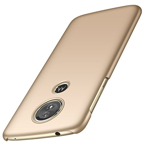 anccer Moto G6 Play/Moto E5 Hülle(International Edition), [Serie Matte] Elastische Schockabsorption und Ultra Thin Design (Glattes Gold)