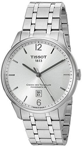 Tissot orologio da uomo con cinturino e cassa in acciaio automatico argento quadrante analogico T0994071103700