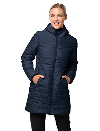 Jack Wolfskin Damen Maryland Coat Steppmantel Winddicht Wasserabweisend Atmungsaktiv Mantel, Blau (midnight blau), L