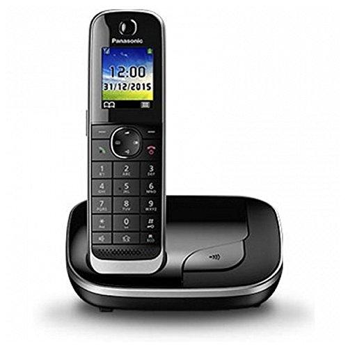 Panasonic KX-TGJ310SPB - Teléfono Fijo Digital (inalámbrico), Color Negro