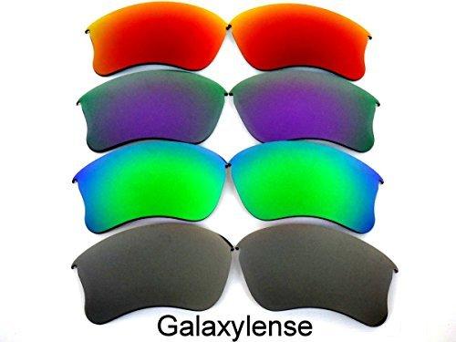 Galaxylense Ersatzgläser für Oakley Flak Jacket XLJ graue & grün & lila & rot Farbe Polarisierend 4 Paare,GRATIS S & H - graue & grün & lila & rot