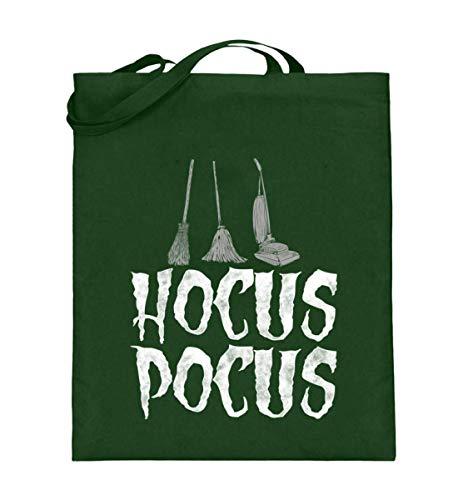 Hocus Pocus Halloween Lustiges Besen Wischmopp Staubsauger Hexe Witches Verhext T-shirt - Jutebeutel (mit langen Henkeln)