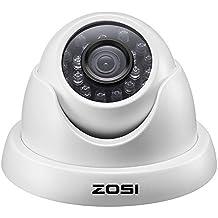 ZOSI 720p Caméra Dôme Objectif 3.6mm Haute Résolution 1280TVL Système Surveillance CCTV, Caméra Etanche IP66, Vision Nocturne 65ft (20m)--Uniquement pour le TVI Système de Surveillance CCTV