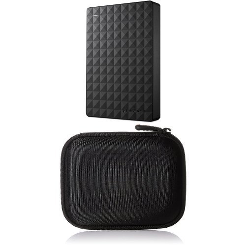 Preisvergleich Produktbild Seagate Expansion Portable, 3TB, externe tragbare Festplatte; USB 3.0 und AmazonBasics Festplattentasche, schwarz