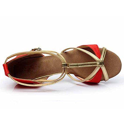 Damen Ballsaal Latein Salsa Tanz Schuhe Standard & Latein stil 255 Red/Heel1.95¡±