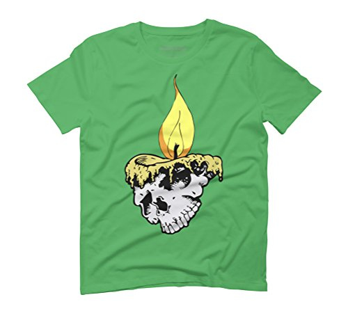 Candle skull Men's Graphic T-Shirt - Design By Humans Green