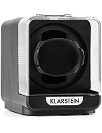 Klarstein Eichendorff Caja reloj automático (rotación 4 modos, motor silencioso, vitrina giratoria tapa cristal, giro bidireccional) - Negro