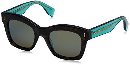 Fendi Damen Sonnenbrille Ff 0025/S 3U Schwarz (Gryspt Trgrn), 50 Preisvergleich