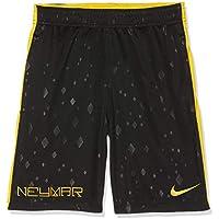 Nike kurze 7 Zoll Distance, Pantalones cortos de baloncesto para Hombre, Color Negro y Amarillo, Talla M