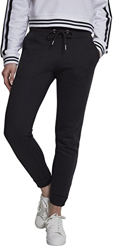 Urban Classics Ladies Sweatpants, Pantalon de Sport Femme Schwarz (Black 00007)