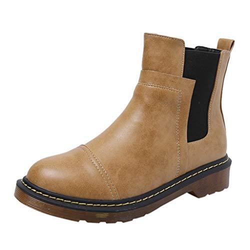Watopi Damen Stiefel Winter Short Snow Bootie Britische Schuhe Warme Combat Boots Schuhe Stiefeletten