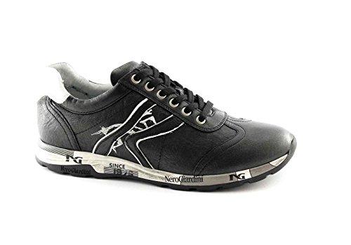 Nero Giardini 16190 Nero Bianco Scarpe Donna Sportive Lacci Sneaker Casual Nero