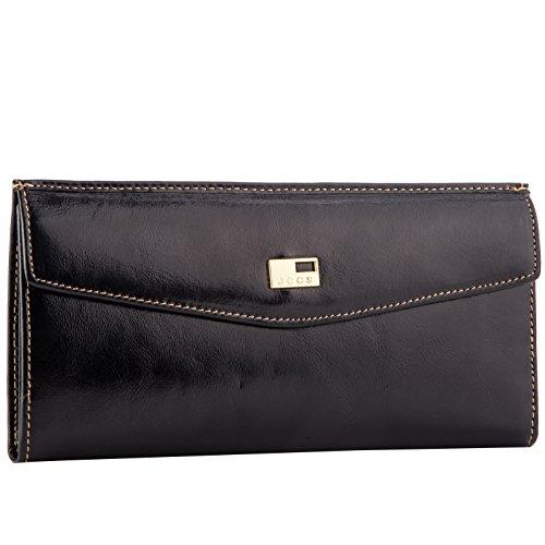 Termichy Frauen Brieftasche Echtes Leder Umschlag Reißverschluss-Clutch Wallet Schlanke Geldbörse Münze Telefon Fall (Große Verkauf Geldbörsen Für)