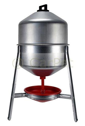 30 L Metall Automatische Geflügel Wasser Siphon Hühner Vorrats Tränke Verzinkt