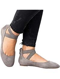 Amazon Ballerine 37 Donna Da it Scarpe Camoscio Di 0OxIOXqr