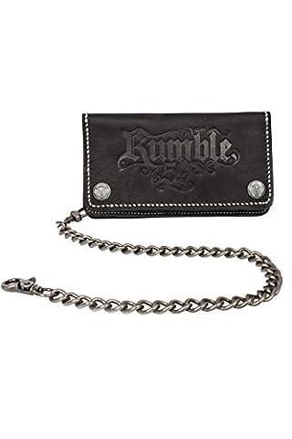 Rumble59 - Leder Wallet – Schwarz - Portemonnaie - Geldbörse - Biker Wallet - Kette