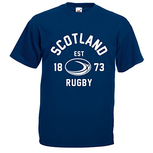 Para hombre Escocia Balón Rugby camiseta manga corta