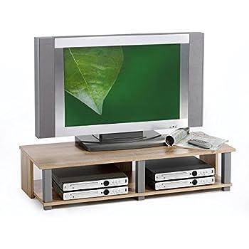 Tv Lowboard Fernsehschrank Fernsehtisch Rasant Eiche Sonoma Weiß