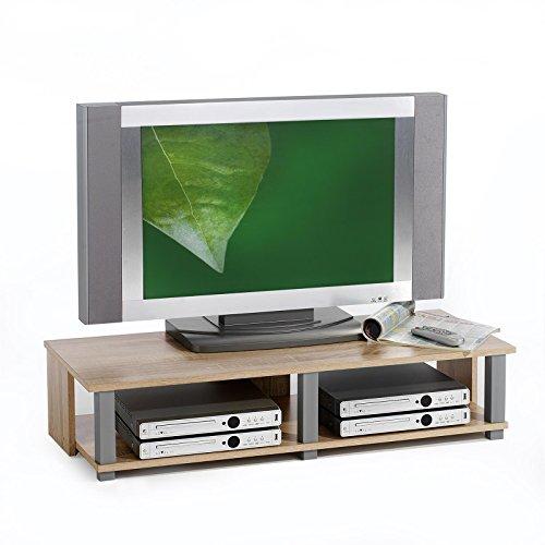 TV-Möbel Lowboard Fernsehtisch TV-Tisch TV-Element GERO, Sonoma Eiche foliert