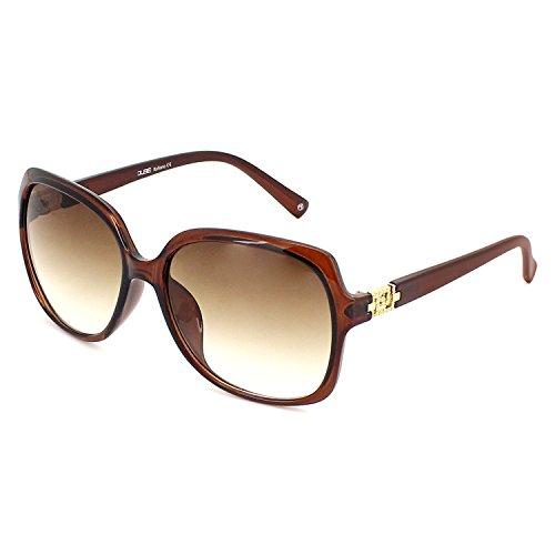 QUBE Women Square Sunglasses (Brown)