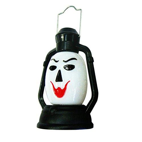 TONGDAUR 1 W New Halloween Tragbare Lampe Hängelampe Lampe Scary Flash Totenkopf Grimace LED Laterne Feuerzeug Dekoration Halloween (1 Stück) Witch