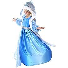 MissFox Ragazze Vestiti Cosplay Elsa Vestito Da Principessa 120CM FTZM