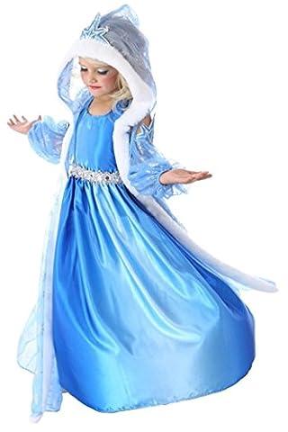 Fox Costume De Danse - Miss Fox fille Motif princesse Elsa, robe,