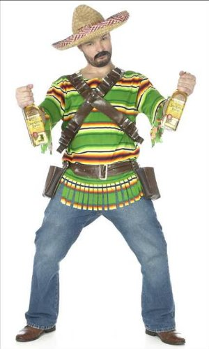 Costume da Messicano da Adulto con tequila e cartucciera