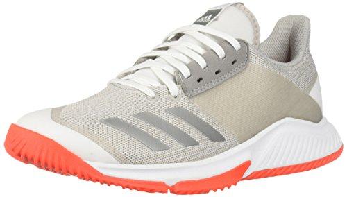 sports shoes bd51e 95345 Adidas Womens Crazyflight Team Volleyball Shoe, WhiteSilver  MetallicGrey, ...
