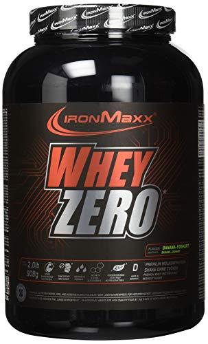 IronMaxx Whey Zero Protein, Banane-Joghurt – Molkenprotein mit 97 {4140e854cd8535a7d36f6382e67a928b9c47232dd5ded83f23b9c734a729d154} Whey Anteil – Zuckerfreies Protein Isolat für den Muskelaufbau – 1 x 908 g Pulver
