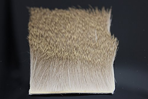 2PCS/LOT Deer Hair Elk Body Hair Short Slim Dünn 6x 6cm Trockenfliegen Muddlers Caddis Fly Angeln Binden Materialien (Trockenfliegen Binden)