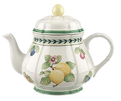 Villeroy & Boch French Garden Fleurence Théière, 1 litre, Porcelaine Premium, Blanc/Multicolore