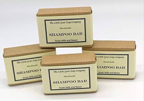 4 X Barre de shampooing - Lait de chèvres et huile de Neem 100 g