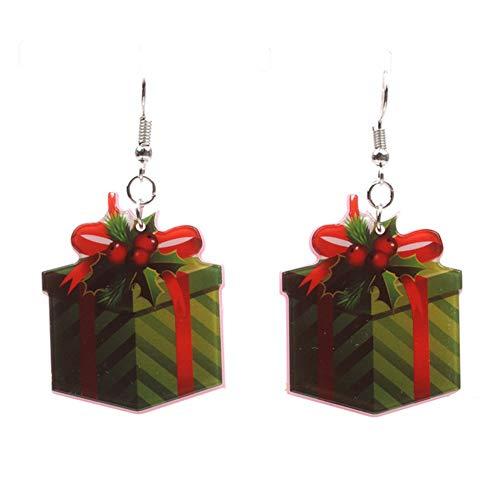 Tonpot Schöne Elegante Weihnachten Acryl Ohrringe Geburtstag Weihnachten Frauen Damen Mädchen, Acryl, Coffret Cadeau, 3 * 5.8cm -