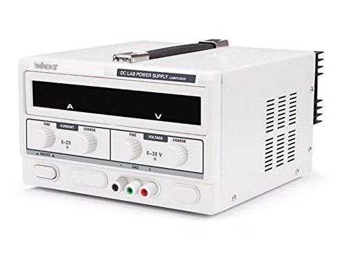 VELLEMAN - LABPS3020 Dc-Labornetzgerät mit LED-Doppelanzeige 0-30 VDC, Weiß-grau 400431