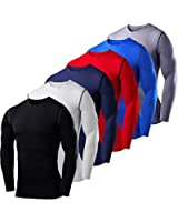 Mens & Boys PowerLayer Compression Base Layer / Baselayer Top Long Sleeve Under Shirt - Crew Neck